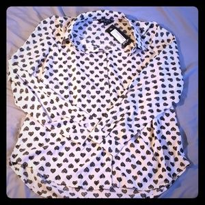 Nasty Gal Heart Blouse